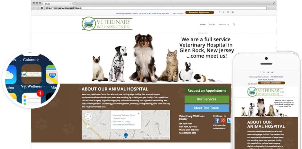 Responsive veterinary web design